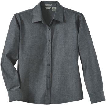 River's End Ladies' Yarn Dyed Chambray Long Sleeve Shirt