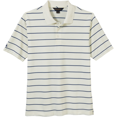 Brooks Brothers Men's Pencil Stripe Pique Short Sleeve Polo