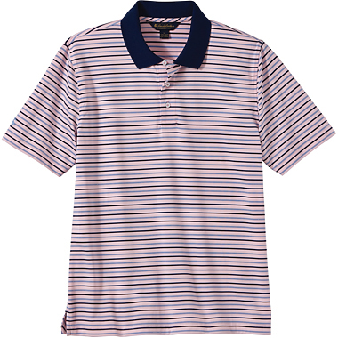 Brooks Brothers Men's Uneven Stripe Jersey Short Sleeve Polo