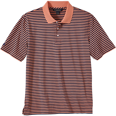 Brooks Brothers Men's Bar Stripe Jersey Short Sleeve Polo