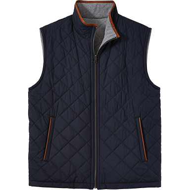 Brooks Brothers Men's Reversible Quilted Full Zip Vest